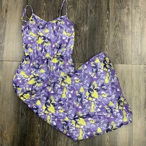 LOFT l Casual Floral Dress - Purple - XS